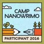 Camp NaNoWriMo 2016